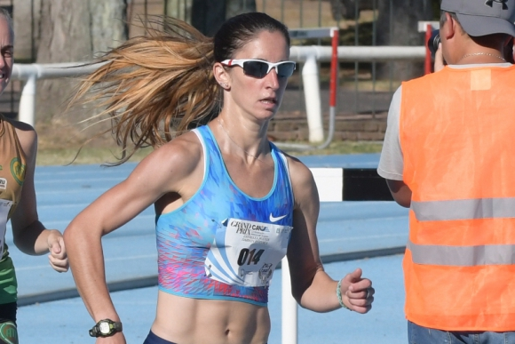Oro. María Pía Fernández ganó la prueba de 1.500 metros. Foto: Marcelo Bonjour