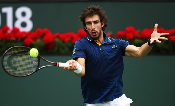 Pablo Cuevas en Indian Wells. Foto: AFP