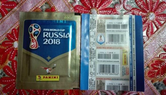 Los sobres de las figuritas de la Copa del Mundo