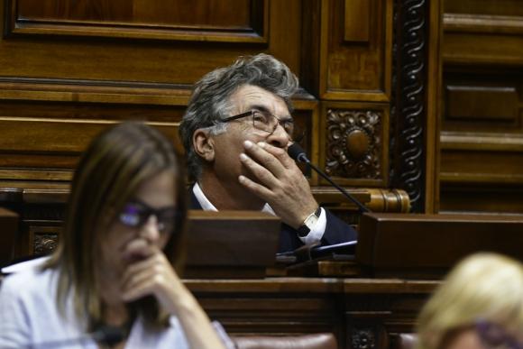 Pérez marcó otra vez en sala sus diferencias con el resto del FA. Foto. D. Borrelli