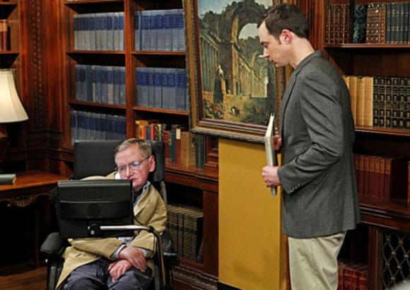 Stephen Hawking en The Big Bang Theory