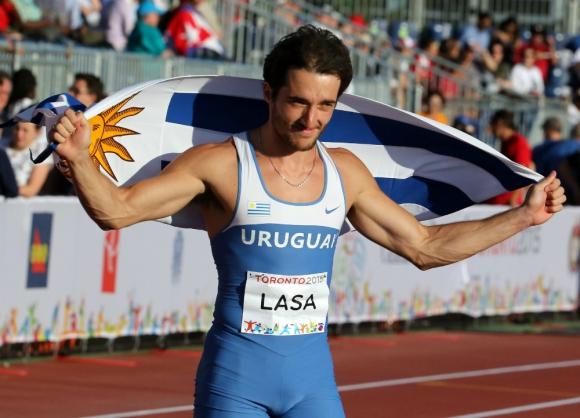 Emiliano Lasa en los Panamericanos de Toronto. Foto: Efe.