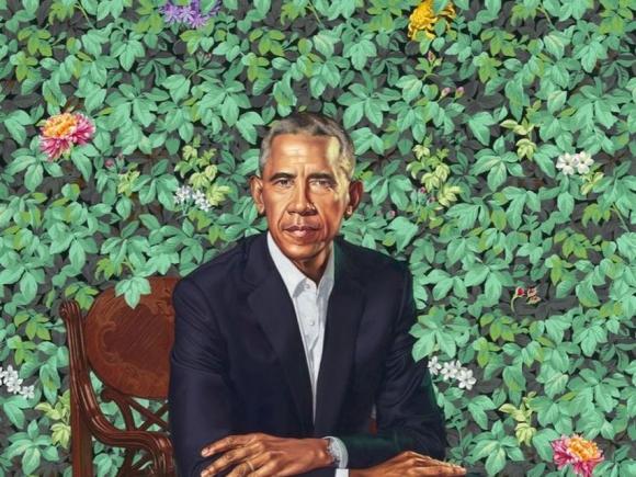 Retrato del Presidente Barack Obama por Kehinde Wiley. Foto: Difusión