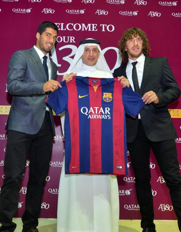 Barcelona. El equipo catalán lució el logotipo de los qataríes hasta la pasada temporada.