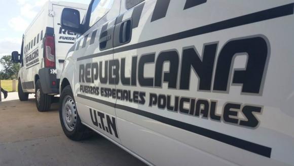 Vehículo de la Guardia Republicana. Foto: Daniel Rojas.