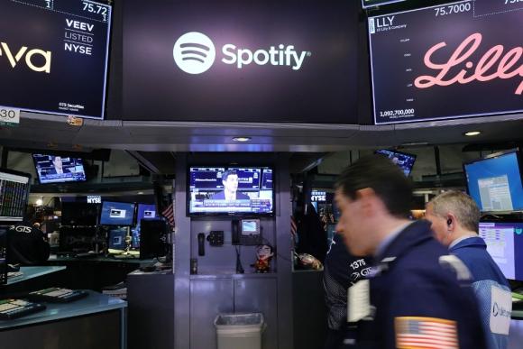 Spotify: tuvo un debut exitoso en la bolsa de Nueva York. Foto: AFP