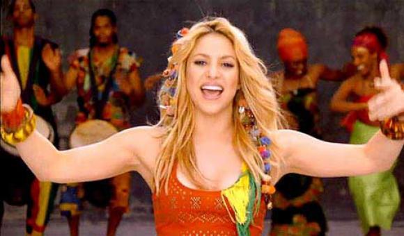 Shakira en el Waka-Waka