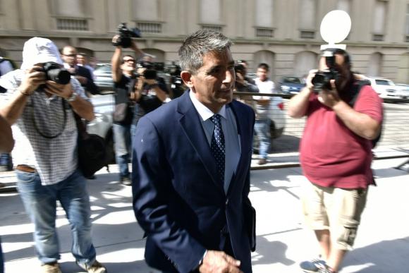 Raúl Sendic se presentó ante la Justicia para declarar. Foto: Fernando Ponzetto