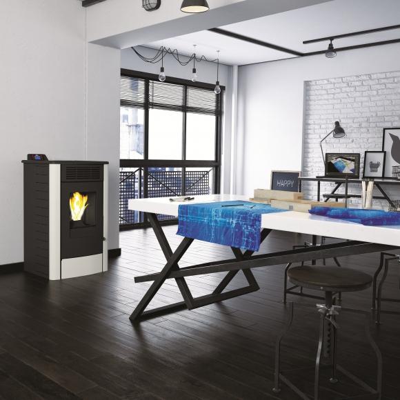 Estos calefactores a  pellets permiten programarse de forma remota para fijar un horario de encendido y apagado.