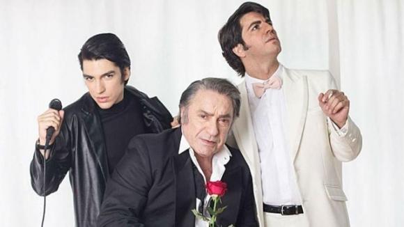 Antonio Grimau, Marco Antonio Caponi y Agustín Sullivan, los tres Sandro. Foto: Difusión