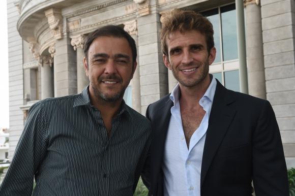 Iván Alonso y Álvaro Recoba. Foto: Ariel Colmegna