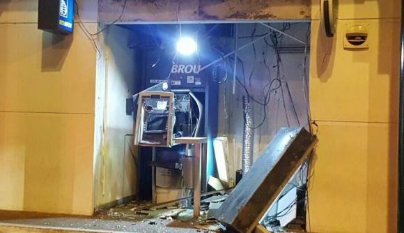 Cajero explotado en Atlántida. Foto: El País