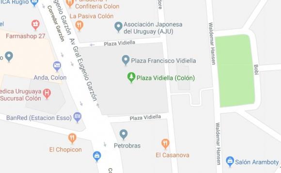 Plaza en Colón. Foto: Captura de pantalla