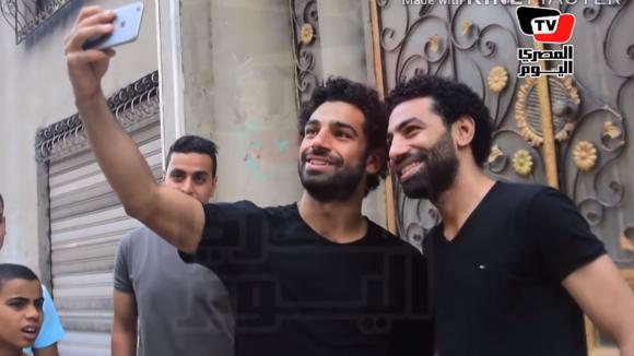 Mohamed Salah y Ahmed Bahaa. Foto: Captura