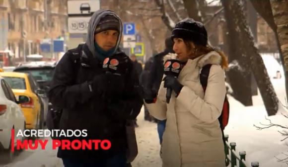 Federico Paz y Alejandra Labraga al frente de Acreditados, que se estrena este lunes. Foto: Captura de pantalla