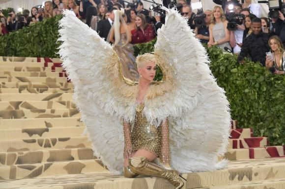 Katy Perry en la Gala del MET 2018. Foto: AFP