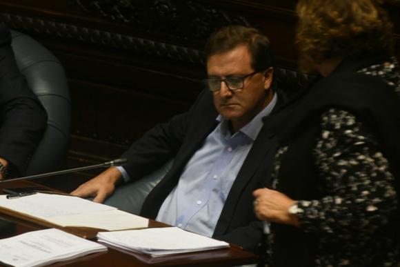 Leonardo De León en el Senado. Foto: Francisco Flores.