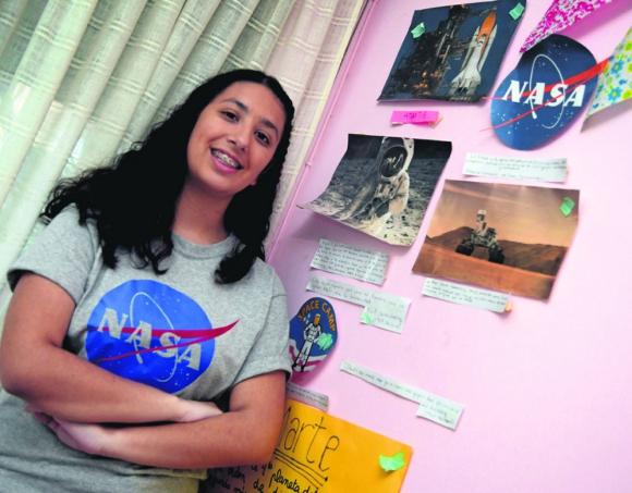 Contando los días: Valentina espera con ansias la fecha del 29 de julio, cuando volará a EE.UU. Foto: Hijo de Nelis Ortiz