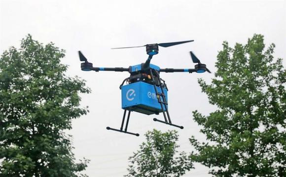 Drones delivery de China.