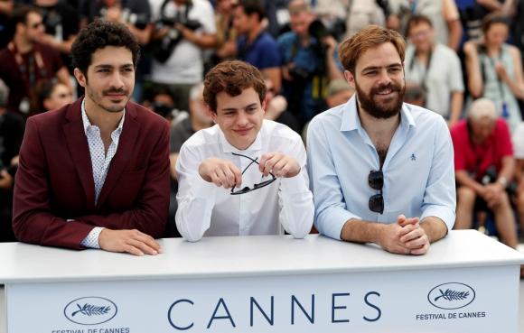 El Chino Darín, Lorenzo Ferro y Peter Lanzani en Cannes