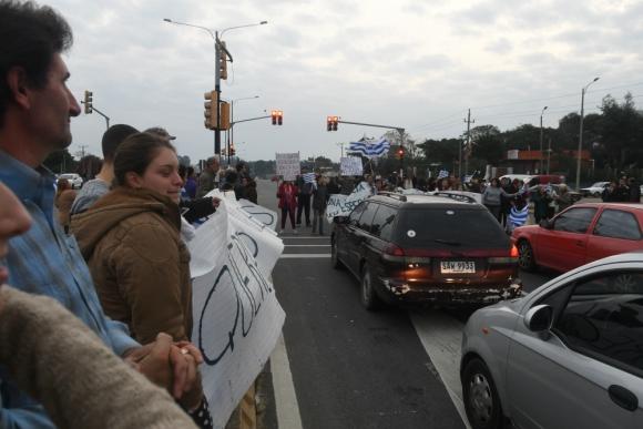 Nueva protesta en ruta Interbalnearia por mayor seguridad. Foto: Francisco Flores