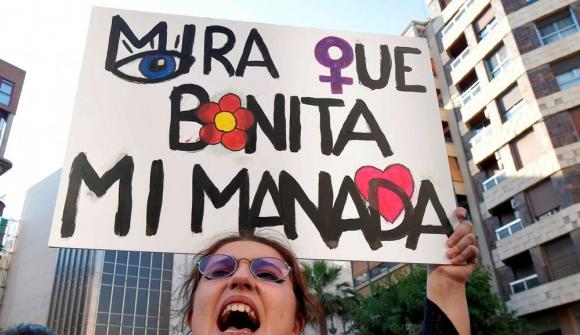 """Manifestaciones en España por la liberación del grupo """"La Manada"""". Foto: Reuters"""