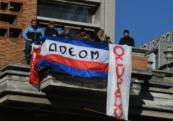 Segundo piso del Palacio Municipal ocupaba por Adeom. Foto: Ariel  Colmegna.