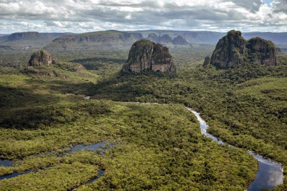 Chiribiquete, el mayor parque natural de Colombia. Foto: AFP