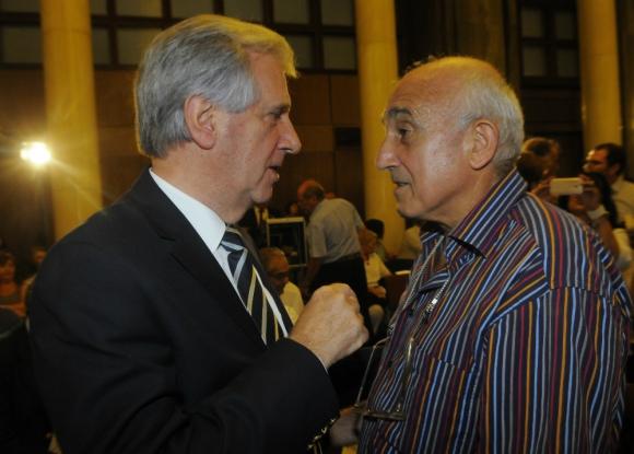 Por carta: en mayo el rector Markarian le transmitió a Vázquez la preocupación de la UdelaR. Foto: archivo El País.