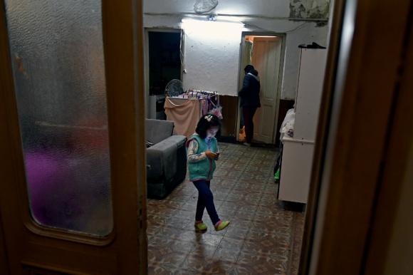 Cuatro casas vacías ubicadas en la calle Mercedes fueron ocupadas por siete mujeres. Foto: F. Ponzetto