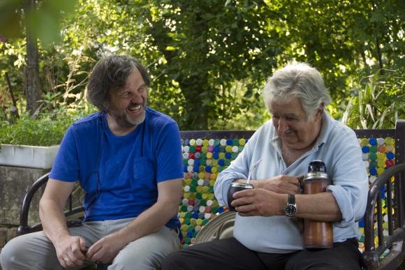 Emir Kusturica junto a José Mujica
