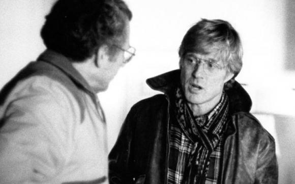 Robert Redford y Sydney Pollack en Sundance en 1989