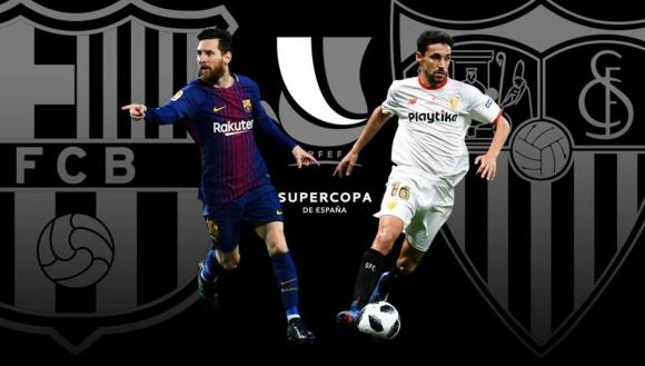Barcelona y Sevilla se encuentran en la Supercopa de España. Foto: Cablevisión