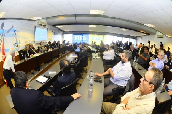 Asamblea de clubes en la AUF. Foto: Gerardo Pérez
