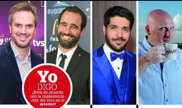 Nicolás Cáceres, Juan Miguel Carzolio, Andrés Ojeda y Orlando Petinatti