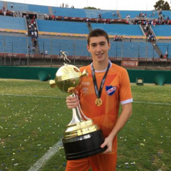 Franco Israel, arquero de Nacional y la Selección uruguaya Sub 20