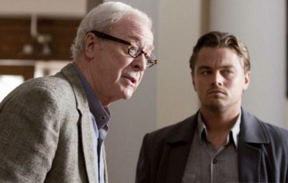 """Michael Caine y Leonardo DiCaprio en """"El origen"""""""