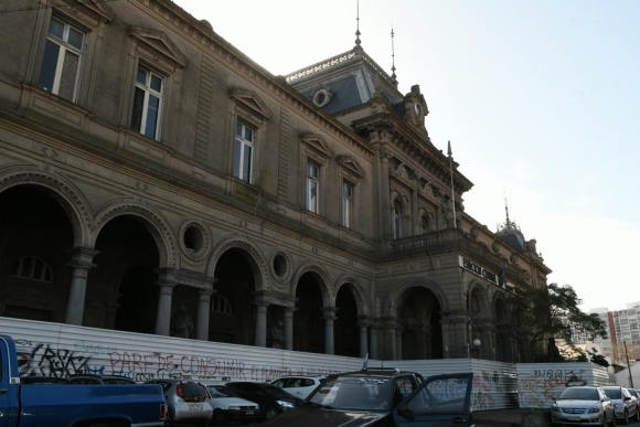 Así se encuentra la Estación Central de AFE en la actualidad. Foto: Darwin Borrelli.