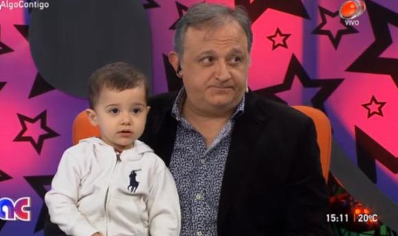Luis Alberto Carballo con su hijo, Facundo