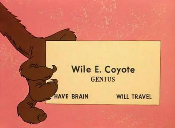 Tarjeta personal de Wile E. Coyote