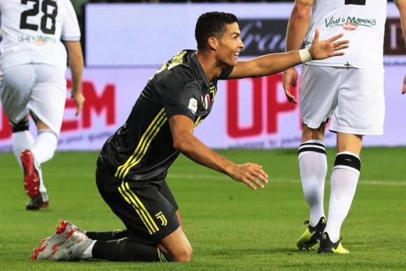 Cristiano Ronaldo ante Parma. Foto: EFE