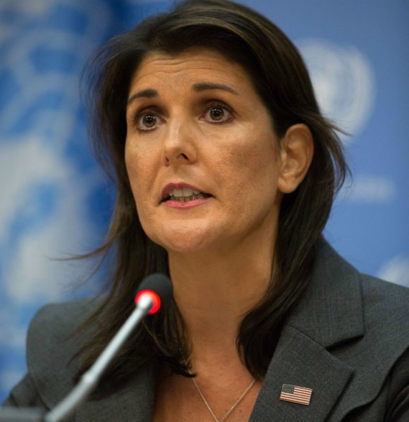 Embajadora Nikki Haley. Foto: AFP
