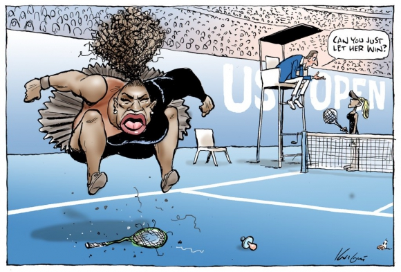 Caricatura sobre Serena Williams