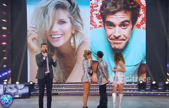 Laura Fernández y Nicolás Cabré en la pantalla