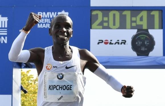 Eliud Kipchoge logró un nuevo récord del mundo