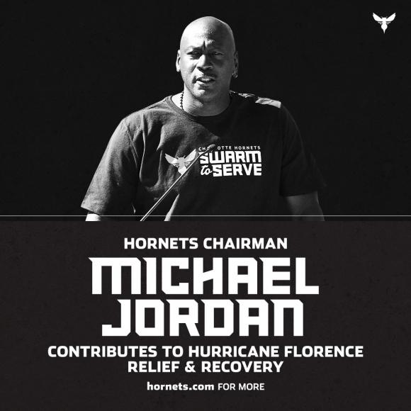 Michael Jordan es parte de la campaña de los Hornets. Foto: @hornets