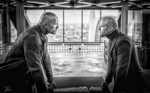 Dwayne Johnson y Jason Statham en la primera imagen de Hobbs & Shaw. Foto: Captura Instagram The Rock