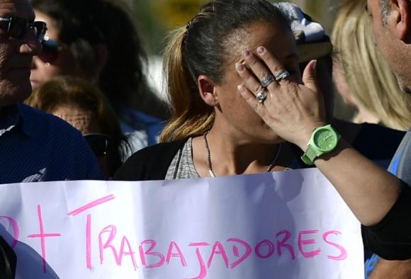 Dolor: Toledo se llenó de vecinos llorando. Foto: Fernando Ponzetto