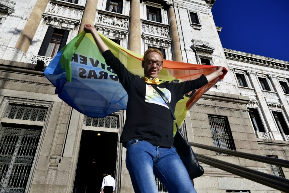 El Senado aprobó el proyecto de ley para las personas trans. Foto: Fernando Ponzetto