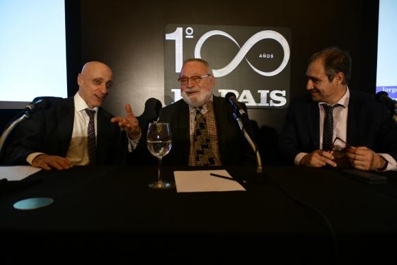 Carlos Pagni, Fernando Savater y Diego Cabot: los periodistas deben evitar ser voceros y respetar los hechos.  Foto: Fernando Ponzetto